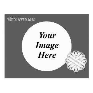 Plantilla de la cinta de la flor blanca postales