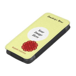 Plantilla de la cinta de la flor de Borgoña Funda Para iPhone 5
