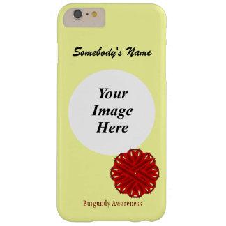 Plantilla de la cinta de la flor de Borgoña Funda Para iPhone 6 Plus Barely There