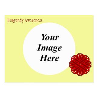 Plantilla de la cinta de la flor de Borgoña Tarjeta Postal