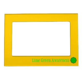 Plantilla de la cinta de la flor de la verde lima marcos magneticos de fotos