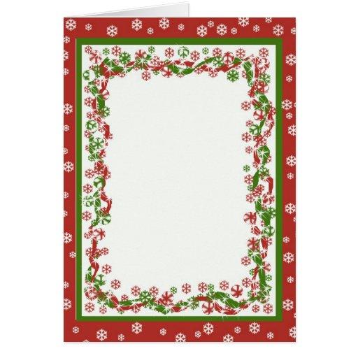 Plantilla de la cinta del navidad tarjeta de felicitación