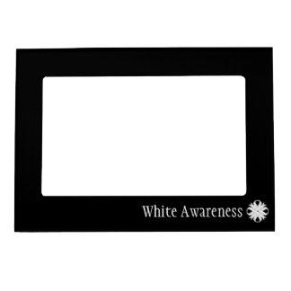 Plantilla de la cinta del trébol blanco marcos magneticos para fotos