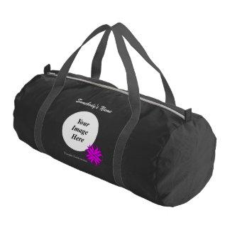 Plantilla de la cinta del trébol púrpura bolsa de deporte