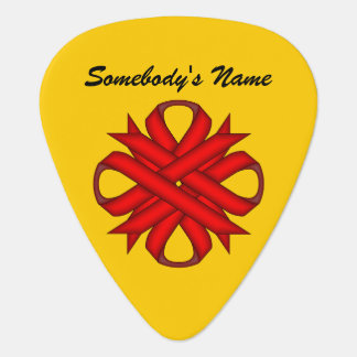 Plantilla de la cinta del trébol rojo uñeta de guitarra