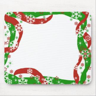 Plantilla de la cinta y del copo de nieve del navi alfombrilla de ratón