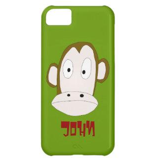 Plantilla de la cubierta del iPhone 5 del chimpanc Funda Para iPhone 5C