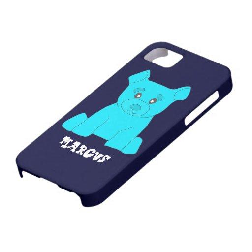 Plantilla de la cubierta del iPhone 5 del oso de iPhone 5 Carcasas