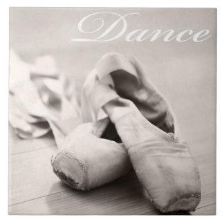 Plantilla de la danza de los zapatos de Pointe del Azulejo Cuadrado Grande