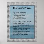Plantilla de la escritura - Prayer del señor Póster