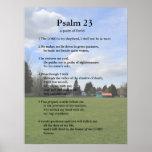 Plantilla de la escritura, salmo 23 póster