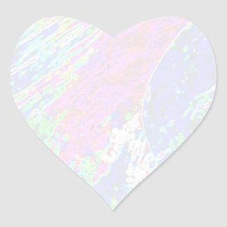 Plantilla de la estrella de NOVINO - ondas Pegatina En Forma De Corazón