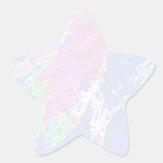Plantilla de la estrella de NOVINO - ondas Pegatina En Forma De Estrella