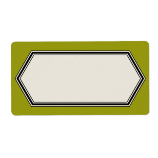 Plantilla de la etiqueta de la frontera del etiquetas de envío