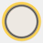 Plantilla de la etiqueta del círculo del vintage,