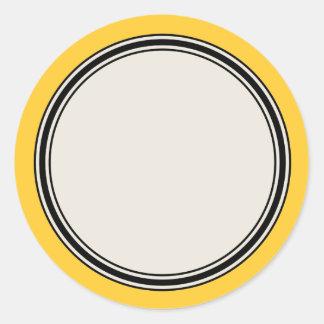 Plantilla de la etiqueta del círculo del vintage