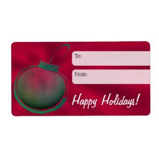 Plantilla de la etiqueta del regalo de vacaciones etiqueta de envío