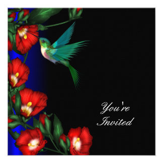 Plantilla de la fiesta de cumpleaños del hibisco d anuncios personalizados