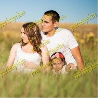 Plantilla de la foto de familia de la imagen del adorno fotoescultura