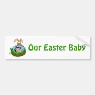 Plantilla de la foto de la invitación del bebé del pegatina de parachoque