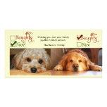 Plantilla de la foto de la tarjeta de Navidad dos  Tarjetas Fotográficas Personalizadas
