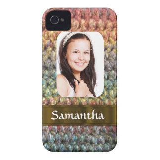 Plantilla de la foto de las lanas de Muticolored iPhone 4 Carcasa