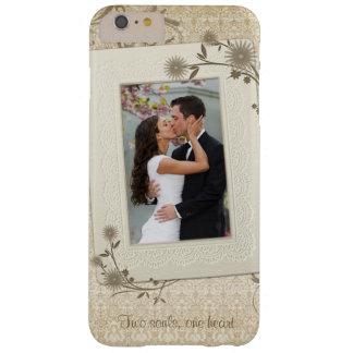 Plantilla de la foto del boda del vintage funda para iPhone 6 plus barely there