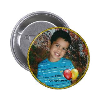 Plantilla de la foto del círculo de Feliz Cumplean Pins