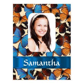 Plantilla de la foto del collage de la mariposa postal