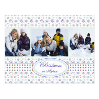 Plantilla de la foto del copo de nieve del día de postales