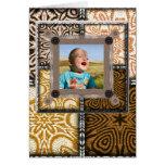 Plantilla de la foto del entusiasta del edredón tarjeta de felicitación
