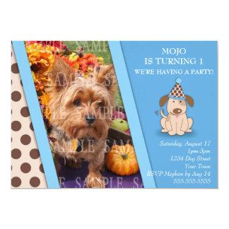 Plantilla de la foto del fiesta del perrito invitación 12,7 x 17,8 cm