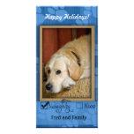 Plantilla de la foto del mascota - traviesa o agra tarjeta fotografica personalizada