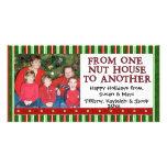 Plantilla de la foto del navidad tarjeta fotografica