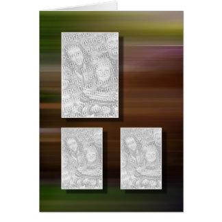 Plantilla de la foto del recuerdo de 3 imágenes tarjeta de felicitación