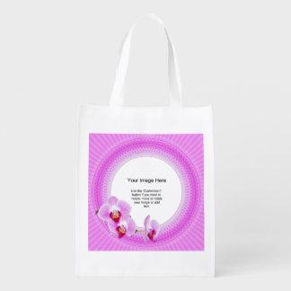 Plantilla de la foto - orquídea radiante Fra Bolsa Reutilizable