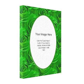 Plantilla de la foto - papel pintado esmeralda del lienzo envuelto para galerías