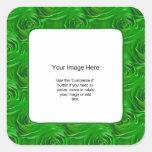 Plantilla de la foto - papel pintado esmeralda del calcomanía cuadradas personalizadas