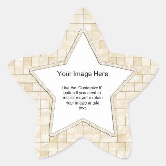 Plantilla de la foto - teja color nata del pegatina en forma de estrella