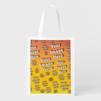 Plantilla de la imagen bolsas reutilizables