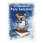 Plantilla de la invitación de la fiesta de graduac