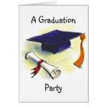 Plantilla de la invitación de la fiesta de graduac tarjeton