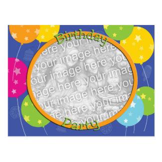 Plantilla de la invitación de la foto de la fiesta tarjetas postales