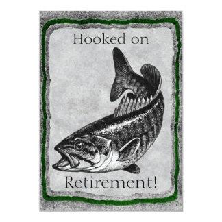 Plantilla de la invitación de la pesca de la invitación 12,7 x 17,8 cm