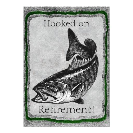 Plantilla de la invitación de la pesca de la lubin