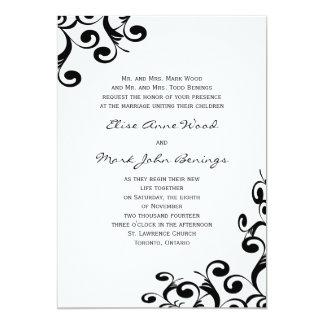 Plantilla de la invitación del boda