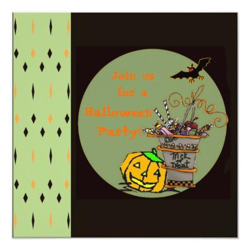 Plantilla de la invitación del fiesta de Halloween