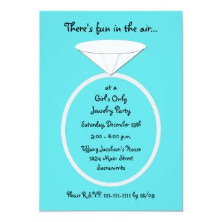Plantilla de la invitación del fiesta de la invitación 12,7 x 17,8 cm