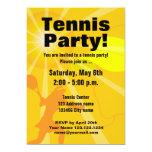 Plantilla de la invitación del fiesta del tenis