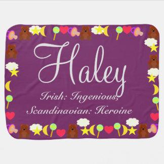 Plantilla de la manta del bebé de Haley Mantas De Bebé